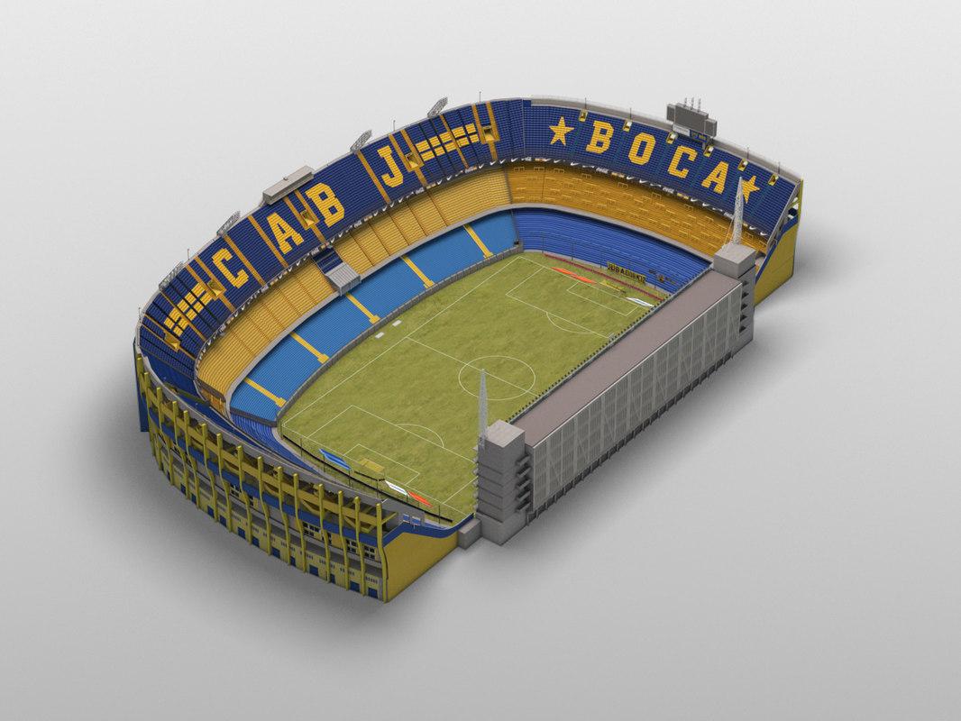 3D model boca juniors stadium