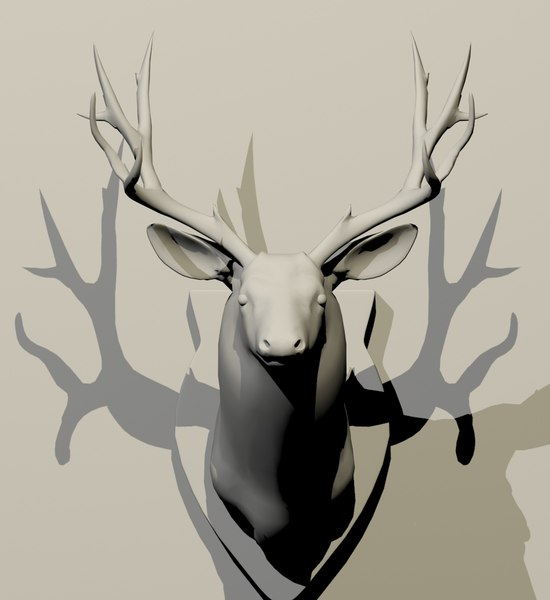 3D model taxidermy deer
