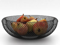 3D philippi mesh fruit bowl