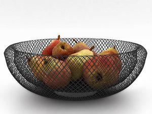 3D philippi mesh fruit bowl