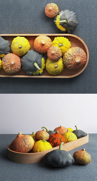 3D pumpkin centerpiece model