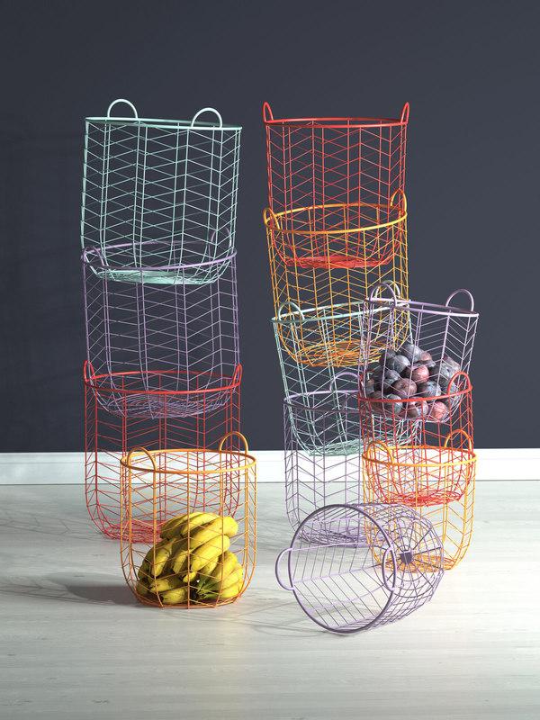 wire baskets 3D model