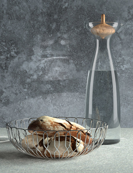 3D georg jensen bread basket model