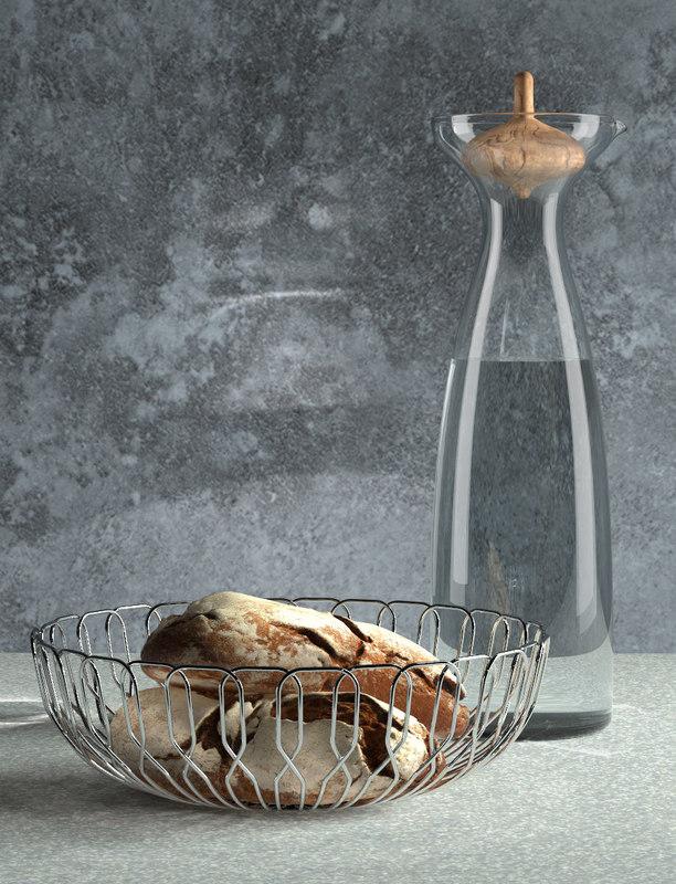 3D georg jensen bread basket model