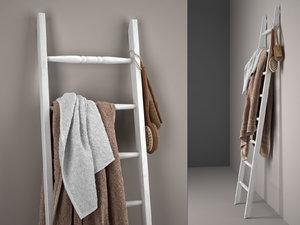3D london ladder towel rack