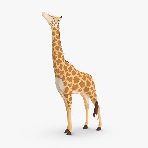 giraffe----eating 3D