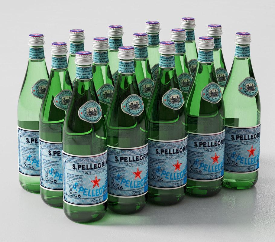 san pellegrino bottles 750 3D