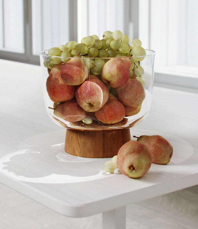 3D olson serving bowl pears