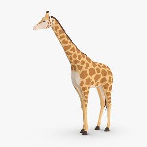 giraffe----standing 3D model