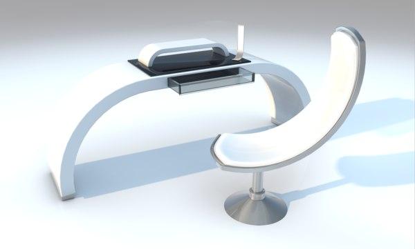 3D desk office chair