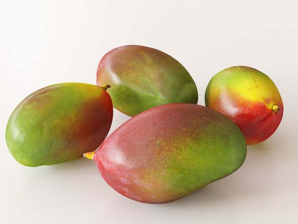 3D model set mangoes