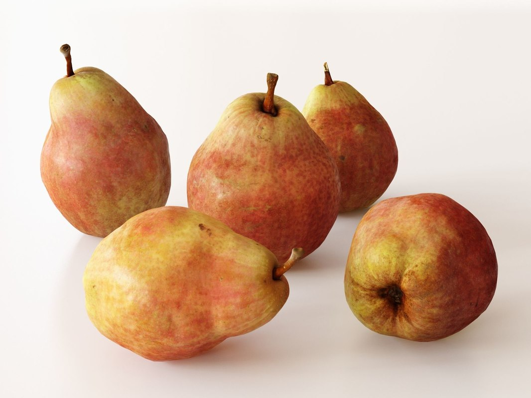 red pears 3D model