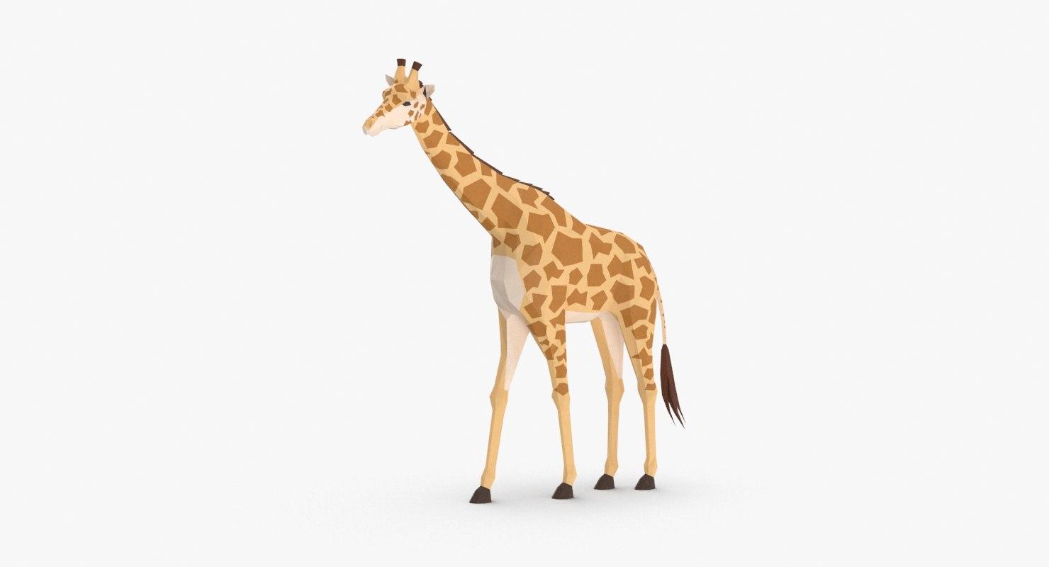 giraffe----walking 3D model