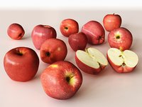red delicious apples 3D model