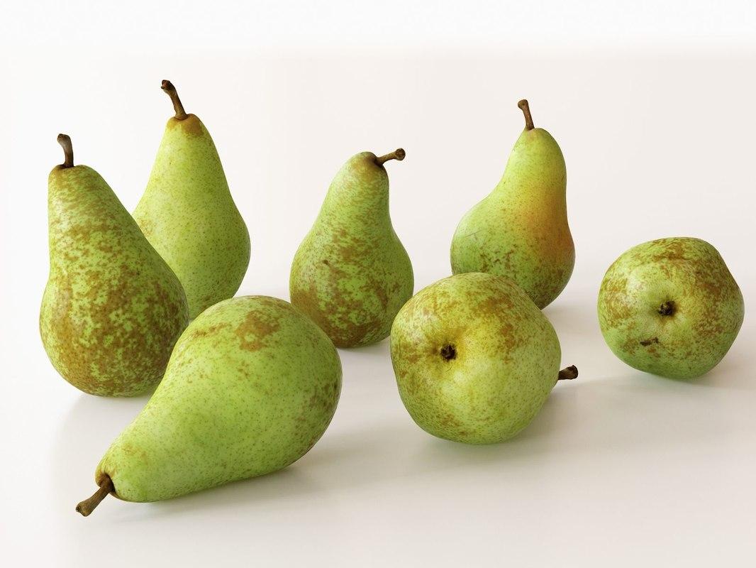 3D model abate fetel pears