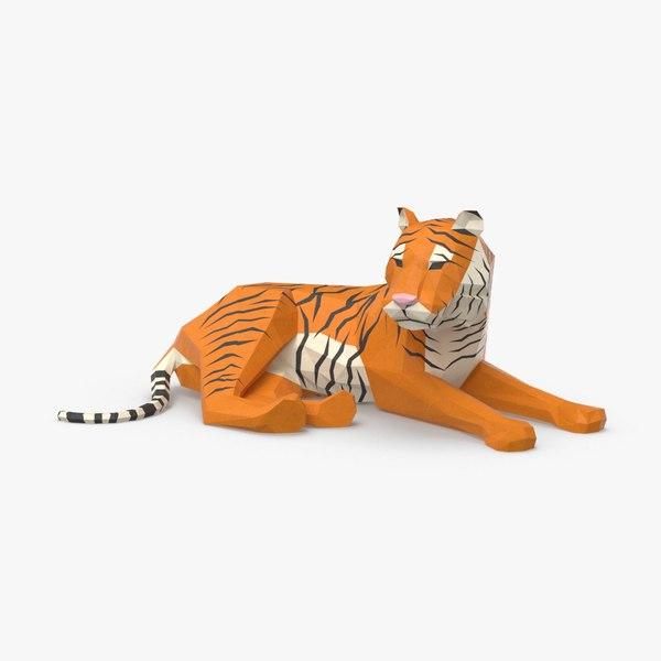 tiger---lying 3D