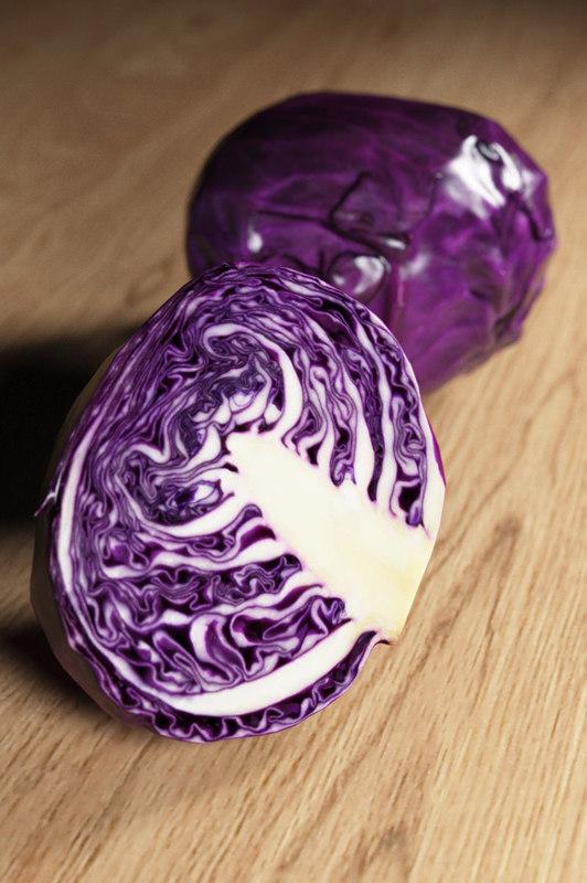 3D violet cabbage
