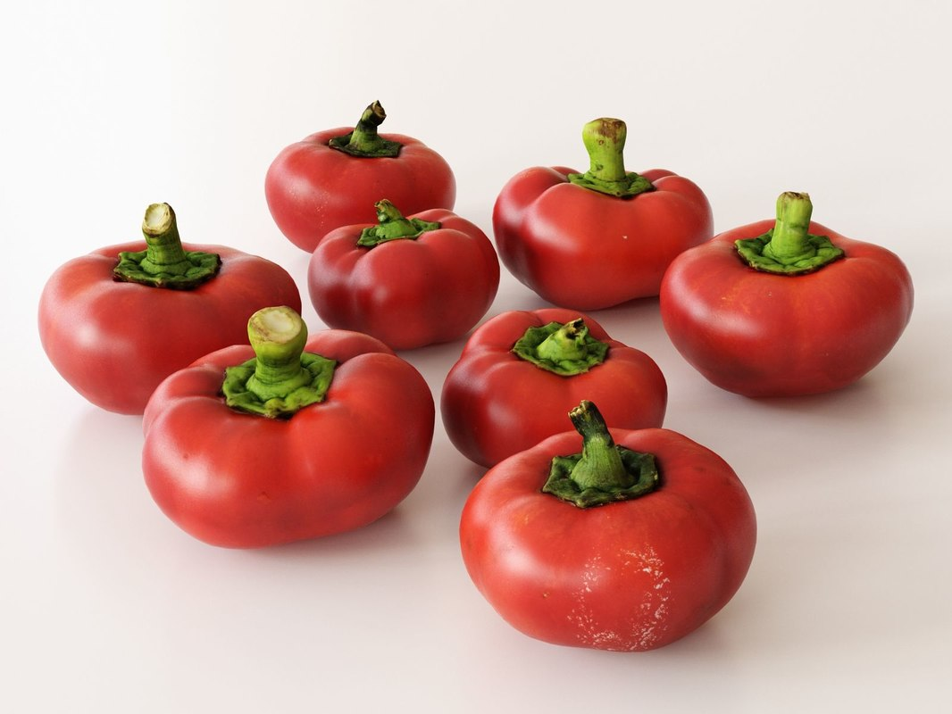 3D model pimento peppers