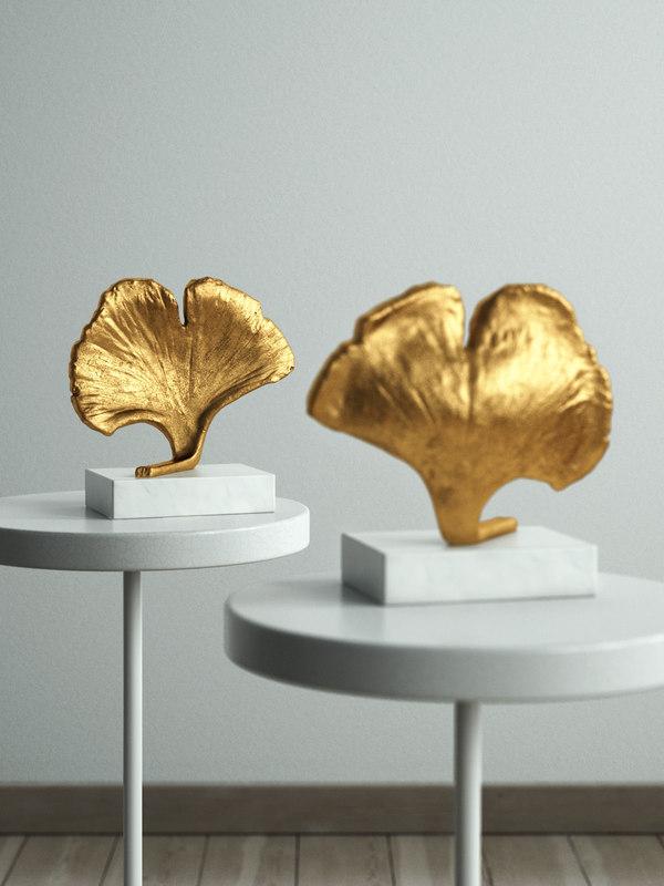 ginkgo leaf object 3D