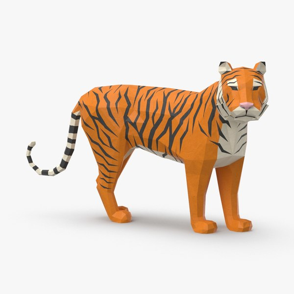 tiger---standing 3D model