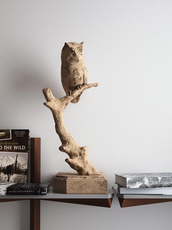 3D model woodland wisdom owl sculpture