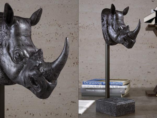 dino rhino sculpture 3D