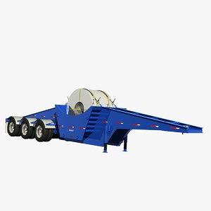 3D trailer pratt sf343a-ct