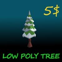 snow tree 3D model