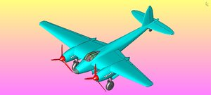 british mosquito bomber aircraft 3D