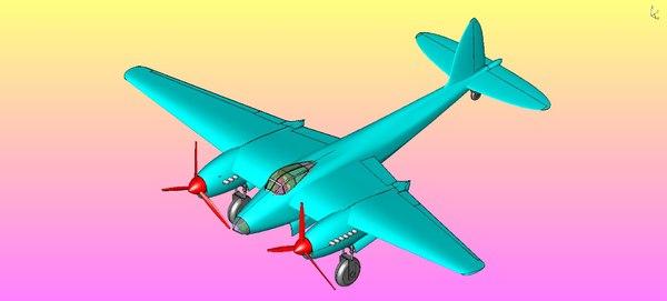 british mosquito bomber aircraft 3D