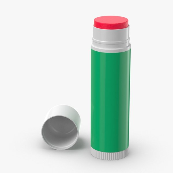 lip-balm-02---open-upright 3D model