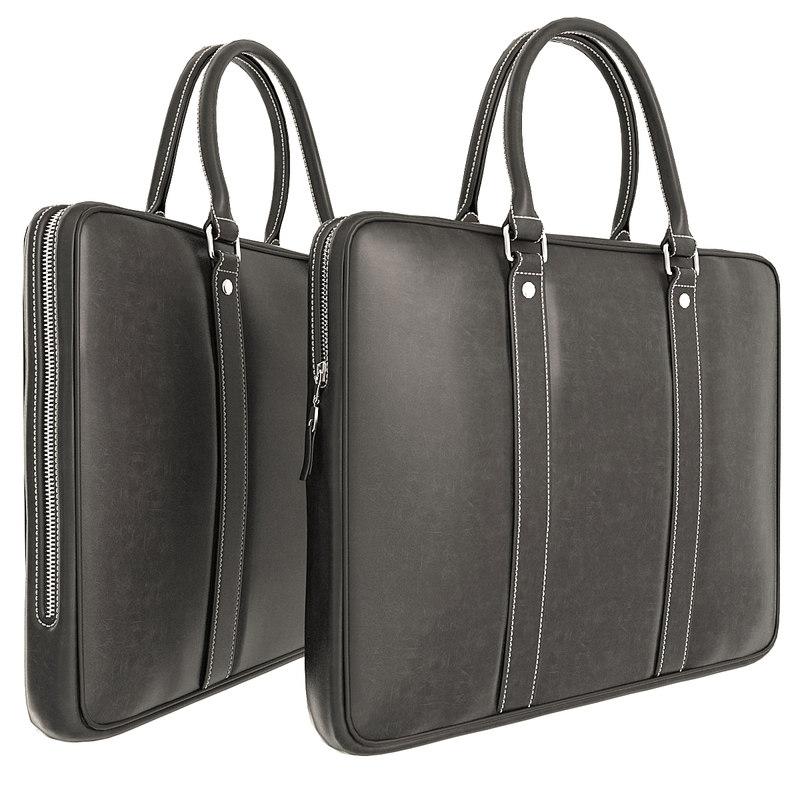 briefcase leather case 3D