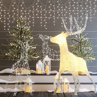 decor christmas deer 3D model
