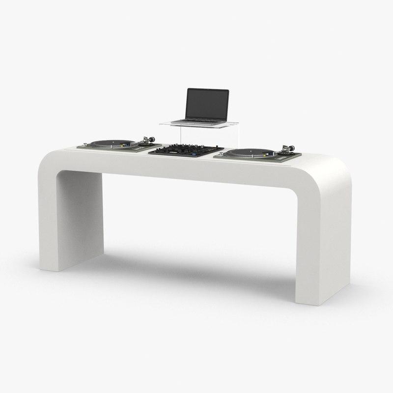 3D dj-booth model
