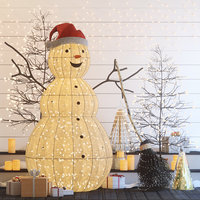 decor christmas snowman model
