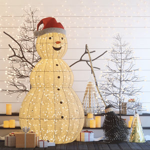 decor christmas snowman model