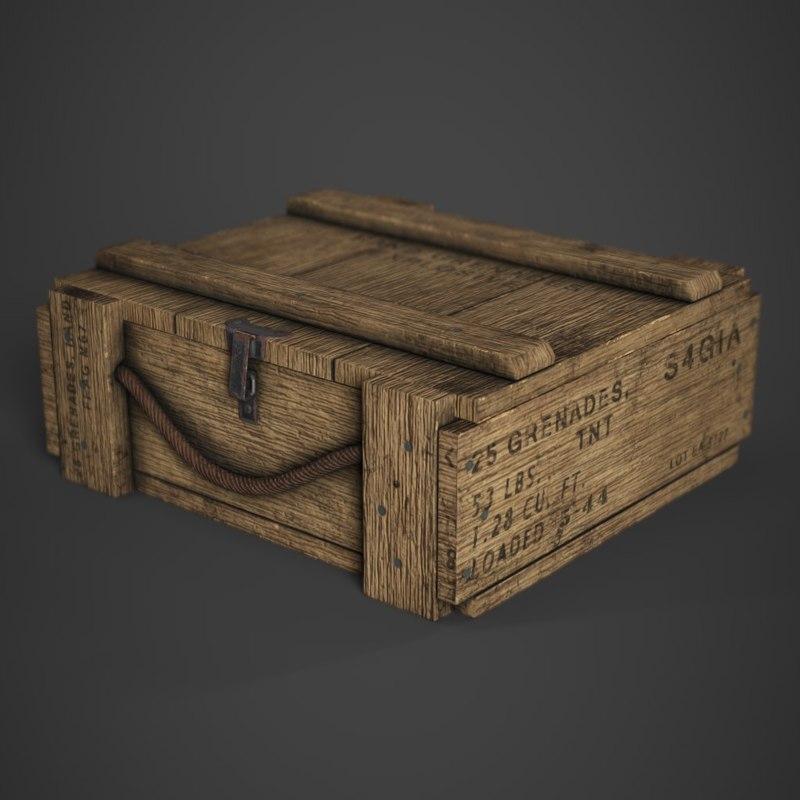 3D model m67 grenade crate