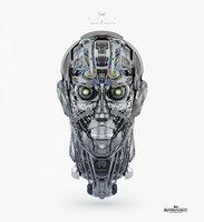 cyborg head 3D model