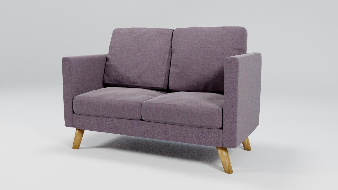 sofa blender dae 3D