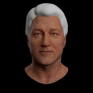 bill clinton 3D model