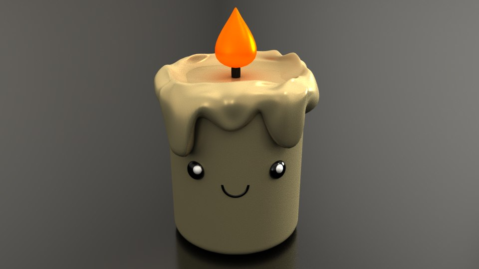 cute candle 3D model