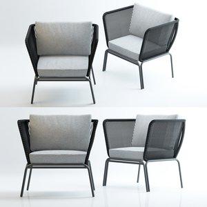 3D fotel bernon model