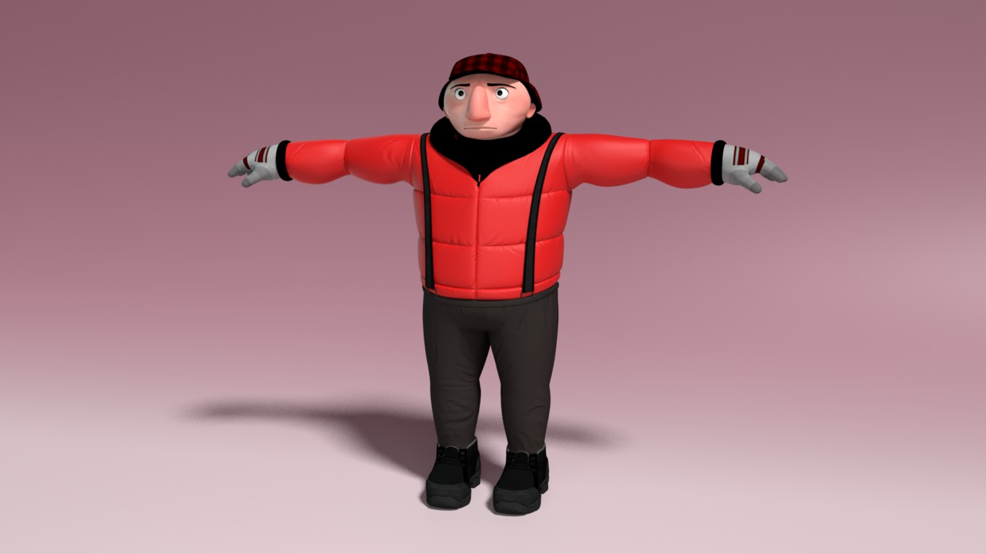 3D character - piers model