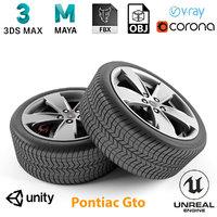 armrend car wheel pontiac gto 3D model