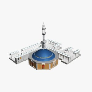 al rahma mosque jeddah 3D model