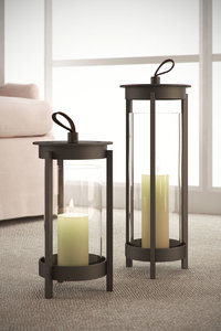 3D crate barrel carmel lanterns