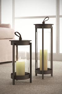 3D crate barrel carmel lanterns