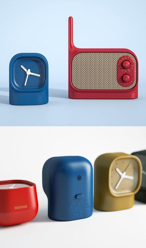 lexon mezzo radio clock 3D model