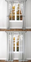 3D belgian linen curtains 2 model
