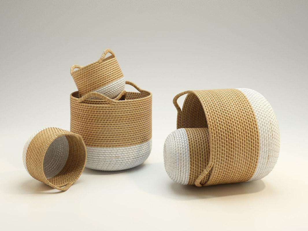 m s weave baskets model